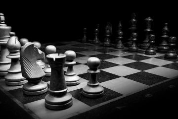 chess board in black and white